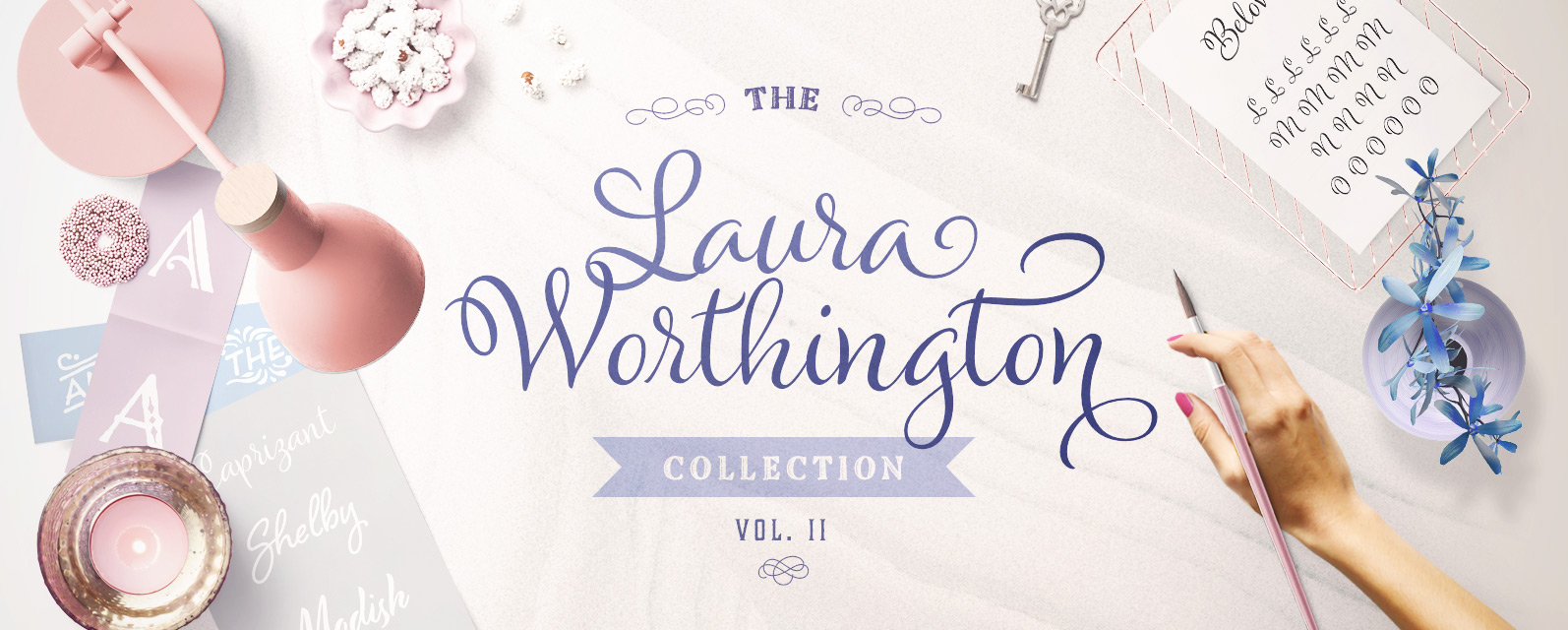 18 Laura Worthington Typefaces for ONLY $19