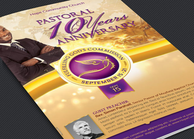 clergy anniversary service program temp design bundles