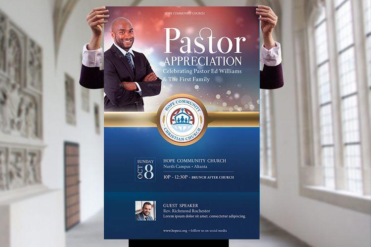 pastor appreciation flyer poster templa