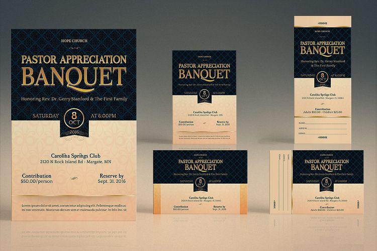 Brochures business cards covers flyers invites logos tickets - Pastor Appreciation Banquet Template Ki Design Bundles