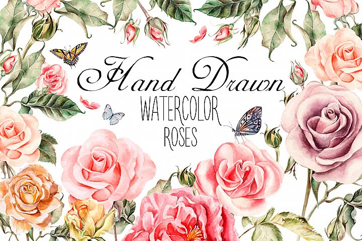 watercolor roses product cover